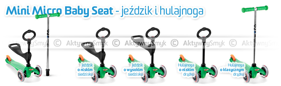 Jeździk i hulajnoga Mini Micro Baby Seat